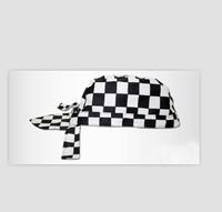 2013 New Man's Stylish Color Matching Check Restaurant Hat Black& White  ZM13061513