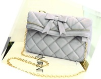 Women's handbag plaid bow small sachet