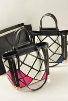 Autumn big bags 2013 women's handbag fashion shoulder bag handbag angle iron color block decoration bags bag
