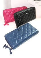 2013 women's small wallet clutch sheepskin genuine leather candy color classic women's all-match long design wallet