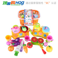 Free shipping creative plastic educational model toy simulation fruit vegetable basket pretend play kitchen baby kids gift 1 pc
