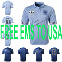 FREE EMS USA soccer football jersey tshirt t shirt Thailand Thai Quailty 13-14 France National Team Ribery Benzema Nasri Evra