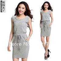 Knitted sleeveless women dress 86135