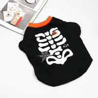 Personalized dog halloween skull clothes summer teddy bomex wellsore clothes