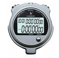 LEAP stopwatch TF810  2 rows digit 10 memories ability Digital Chronograph Sports count  timer for teaching  Metal