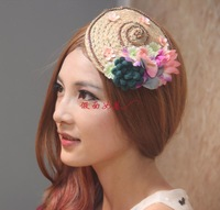 Free shipping Mask female phoenix linen flower hair accessory