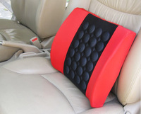 Automotive electrical vibration massage cushion adjustable lumbar office pad 12V free shipping