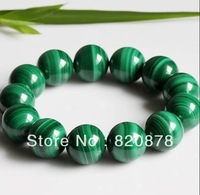 Charming!Beautiful 10mm green malachite bracelet I-101 fashion jewelry