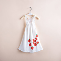 Children's clothing female child summer 2013 strawberry decoration suspender skirt tank dress