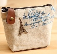 Free shopping  hot Han edition household zakka retro classic nostalgic zero wallet canvas bag pen small change purse key