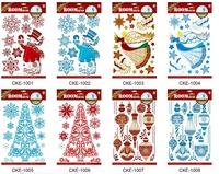 3D christmas stickers adhesive christmas tree decorative stickers wallpaper 120PCS/LOT