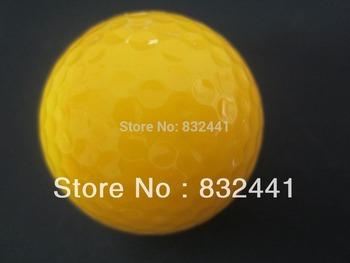 2013 new top quality 1 Dozen new golf balls (12 balls in one box).Free shipping fluorescence yellow  golf ball