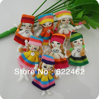20 Pcs Cute Pattern dress girl small doll craft/appliques DIY handicraft A0115