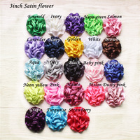 "DHL Free shipping ,3"" mini satin rosette flower,satin rose flower 120PCS (20 colors )"