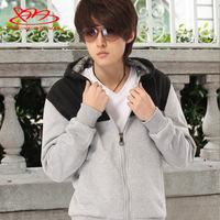 2013 New spring and autumn  Mens Outwear, Men's,slim cardigan zipper  with a hood sweatshirt,Men's fashion all-match Hoodies
