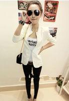 New Women Lady Fashion Metal Collar Slim Shrug Blazer Suit Suits Coat 5 Colors Free Shipping.