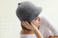 Free shipping,1pcs,Korean version of women's wool caps,winter duck tongue wool hats 5 colors for chosen