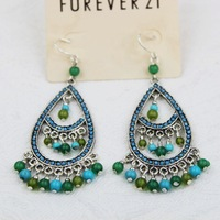 12Pairs/Lot Fashion accessories female national trend bohemia stone vintage earrings Free shipping A030
