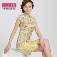 Slim cheongsam dress fashion vintage summer fluid linen 2013 cheongsam