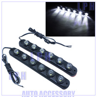 DRL 0.5w/led  2*6leds led car daytime running light  LP13018