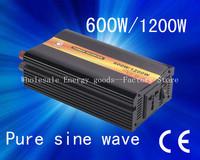 Best quality!!600W dc 12v 24v to ac 110V,220V Pure Sine Wave Power Inverter for solar panel ,Solar system(CP-P-600W)