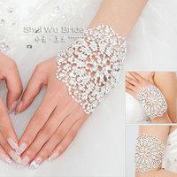 Water bride rhinestone married bracelet wedding jewelry bracelet chain armlessly