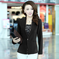 Free shipping 2013 autumn new fashion women's slim OL outfit elegant blazer short jacket 0225851357