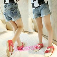 summer female child bow denim shorts tp Pants