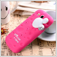 For Samsung Galaxy S3 i9300 silicone case cover, Cartoon Silicone fragrant cheese case with bobbin winder for galaxy s3