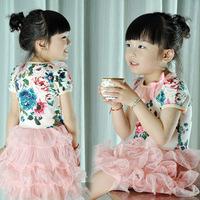 Summer female child short-sleeve dress