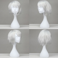 Cheap and best quality 35cm straight gray color Hiiro no Kakera Yuuichi Komura wig cosplay wig free shipping free wig cap
