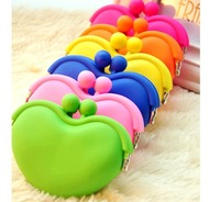 Retail-Hot Sale Silicone Lovely Coin Purse Key Money Bag Jelly Bag Lovling Heart Coin Wallet