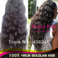 Unprocessed black brown natural virgin brazilian hair weave,  remy human hair soft wave