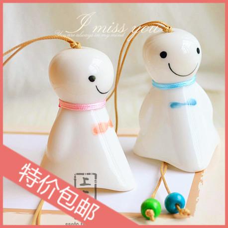 Doll ceramic wind chimes endulge japanese style birthday gift bag decoration(China (Mainland))