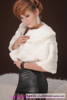 2013 short fur faux design one piece bride thickening coat cape fur coat