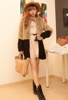 Free Shipping New 2013 Fashion Autumu Winter New Design Fur Coat Women Thick Long Design Women Girl fur jackets Winter coat
