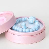 min order $10 Jingdezhen ceramic jewelry set pink green blue earrings drop earring bracelet new arrival Women
