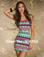 2013 new fashion sexy lingerie printing package hip dress Send free