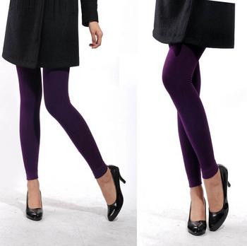 Chromophous women's legging 100% cotton ankle length trousers autumn grey legging