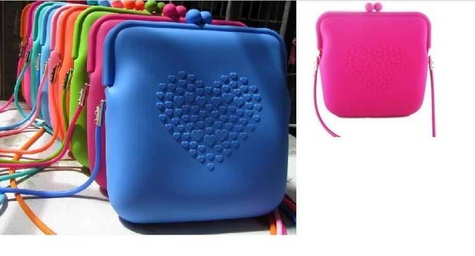 Free Shipping Silicone Rubber Lady Handbag/Lady Shoulder Bag/Fashion Silicon Bag Shopping Bag With Free Shipping(China (Mainland))