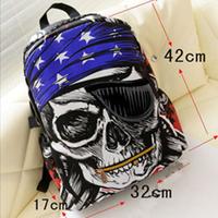 3D Kids SCHOOL BACKPACK Halloween SHOULDER BAG Skull SKELETON Travel Backpack
