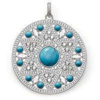 New! Wholesale Free shipping 925 silver beautiful turquoise round pendant / silver pendant charm fit for necklace TS 1219