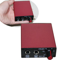 Red Tattoo Power Supply for Tattoo Machine Gun with Plug Free shipping Cast Iron Material