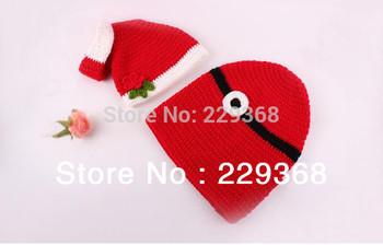 Free Shipping X'mas Christmas Style Gifts Beanie baby Unisex Costume handmade Knit crochet photography props hats Cap Newborn
