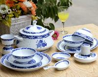 56 dinnerware set blue and white porcelain gift ceramic tableware