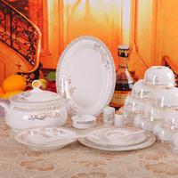 56 plate bone china dinnerware set ceramics bowl marriage