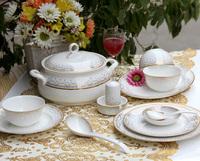Jingdezhen ceramic tableware 56 bowl ceramic bowl bone china bowl ceramics set porcelain gift