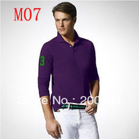 free shipping 2013 Spring Autumn fashion leisure comfortable cheap men polo shirts casual long sleeve polo t-shirts
