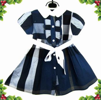 Free Shipping 2014 Cheap Fashion kids Girls short Sleeve striped dress t shirt top with free drop shipping do mix order