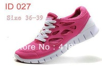 Free shipping 2013 FREE Pink Women athletic 2 sport woman running Shoes, Ship with box